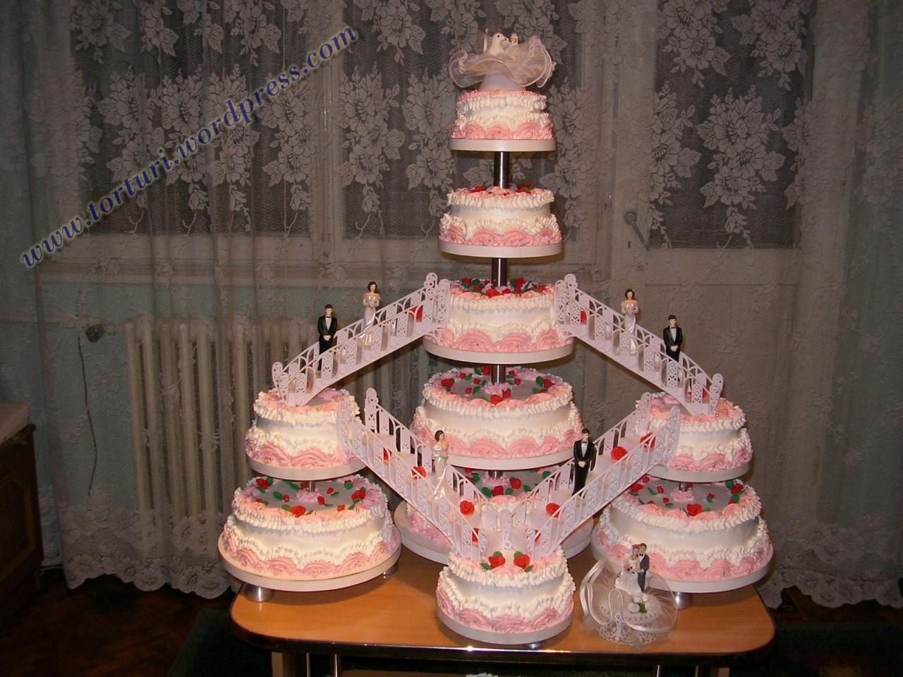 tort nunta 5 etaje si 10 bucati